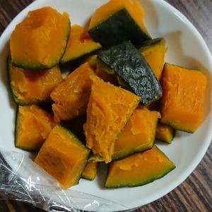 レンジで3分!冷凍かぼちゃの煮物