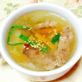 ダシダで❤︎野菜たっぷりカルビスープ