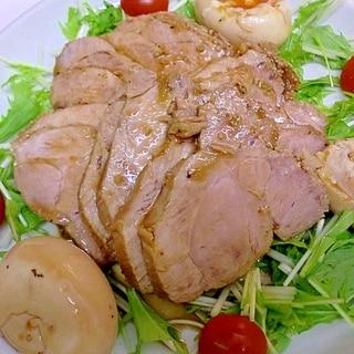 焼き肉のたれでしっとりやわらか煮豚