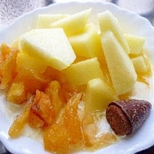 ドライアップル&林檎&フルーティカルピス豆乳YG