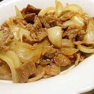 豚肉と玉ねぎの味噌炒め