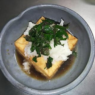 かんたんすぐにできる揚げ出し豆腐