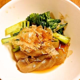 小松菜とこんにゃくの煮びたし