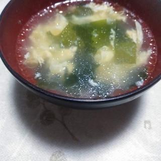 わかめのかきたまスープ