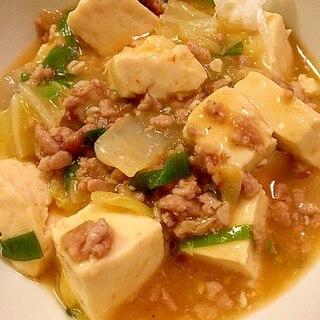 白菜入りちょっと辛い麻婆豆腐