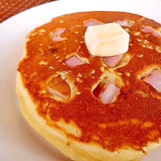 ベーコンとレーズンのダイズパンケーキ