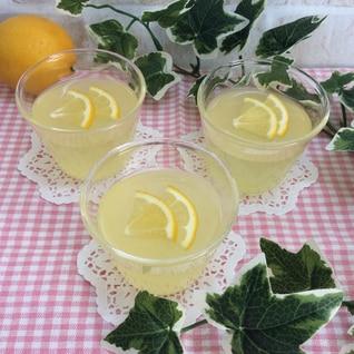 アガーで簡単♡レモンゼリー