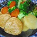 長芋とがんもとブロッコリーの煮物