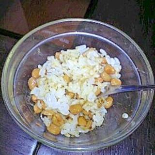 納豆と岩ノリのお粥