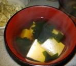 豆腐とワカメの澄まし汁