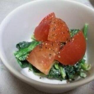 ほうれんそうとトマトのサラダ