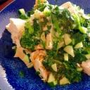 豆腐好きが作るモロヘイヤときゅうりの豆腐しそ和え♩