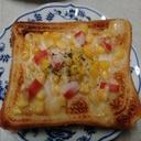 コーンとかにかま磯風味トースト