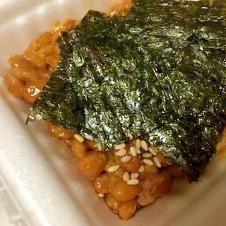 韓国海苔とごま納豆