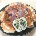 ニラと豚肉の水煎包(蒸し焼き肉まん)