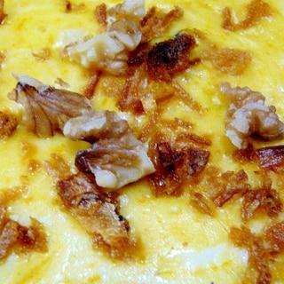 ❤残ったシチューでフライドオニオン乗せチーズ焼き❤