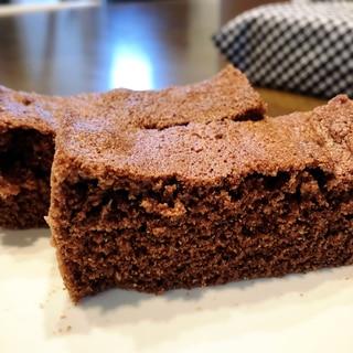 レンジで8分☆おからと米粉のしっとりチョコ風ケーキ