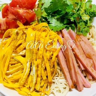 ♡タレ手作り簡単♪中華麺がなくても素麺冷やし中華♡