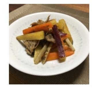 【副菜】豚肉入りさつまいものきんぴら*管理栄養士