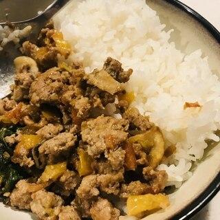 豚ひき肉の味噌炒め