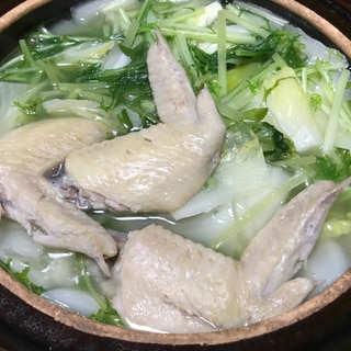 手羽先とろっとろ☆鶏の水炊き