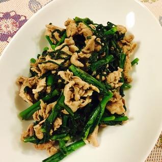 菊菜がおいしい!春菊と豚肉の炒め物☆