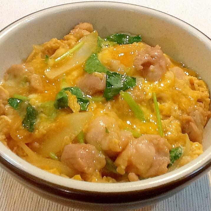 定食屋さんの味再現‼︎1人前ずつ作る美味しい親子丼
