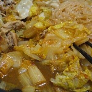 鍋スープでキャベツ消費♪大根えのきの豚キムチ鍋♡