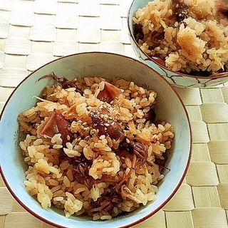 ホタルイカの炊き込みご飯✿