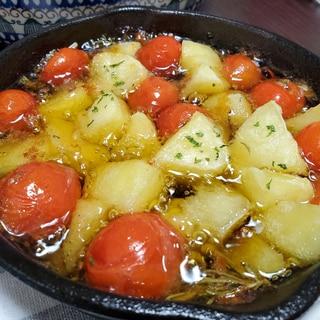 ミニトマトとじゃがいものアヒージョ