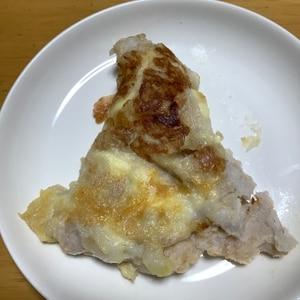 粘りもヘルシー❤里芋&タラコの減塩お焼き♪