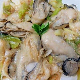 生産者直伝・牡蠣のフライパン焼き味噌風味