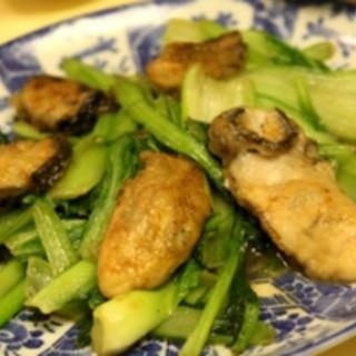 牡蠣と小松菜の炒めもの