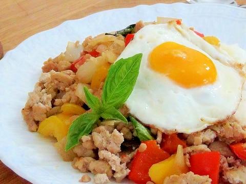 ガパオライス~バジルと鶏肉炒めご飯(レシピ動画)