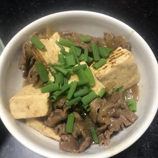 玉ねぎと焼き豆腐で☆肉豆腐