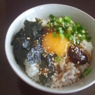 焼き肉のタレで韓国風卵かけご飯☆