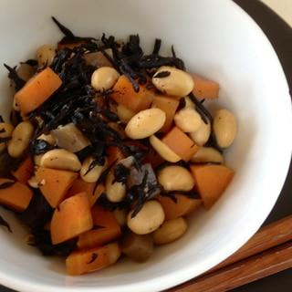 簡単時短栄養たっぷり!ひじきと大豆の煮物