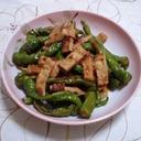 万願寺とうがらしの麺つゆ煮びたし