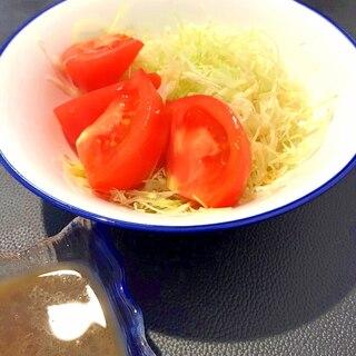 中華風ドレッシングdeトマトとキャベツのサラダ