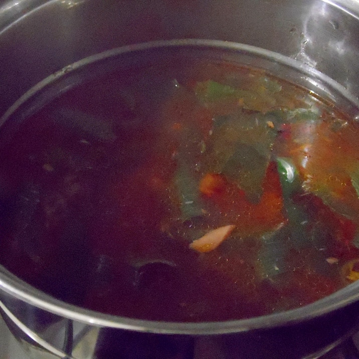 シーチキンと葱の簡単スープ