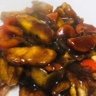 揚げずに美味しい鶏肉と野菜の黒酢あんかけ