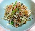 もやし、水菜、ザーサイの中華風和え