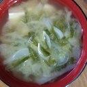新玉ねぎ、豆腐の味噌汁