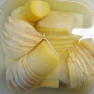 一般的な圧力鍋で加圧0分、筍のあく抜き