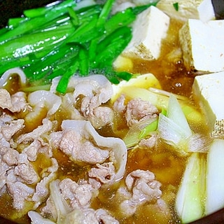 ぶたにら鍋*豚肉シットリ韮タップリ