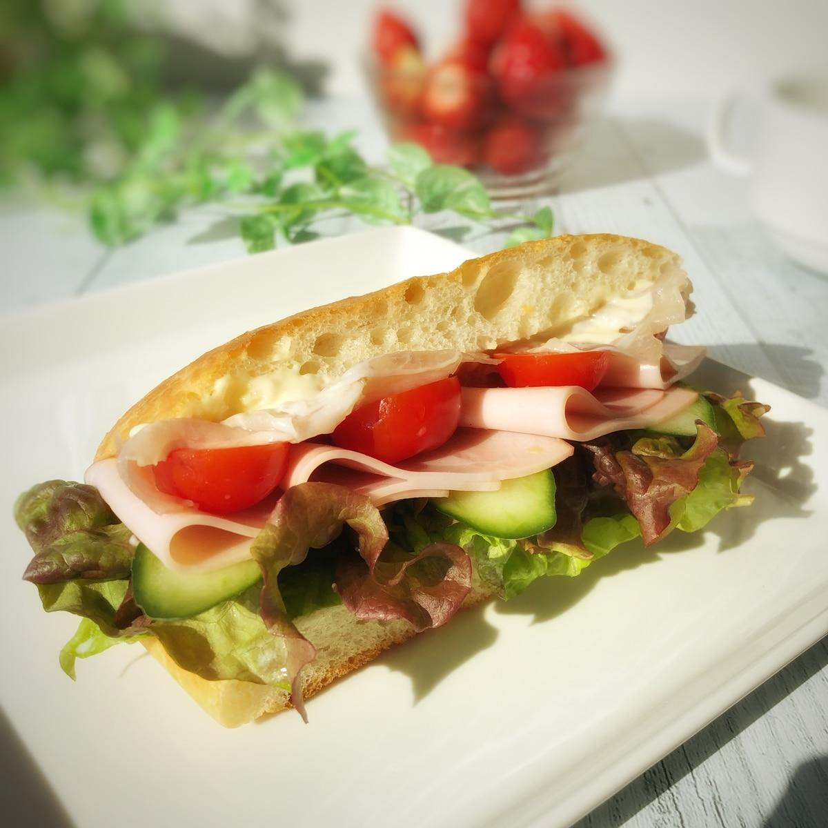 フォカッチャ サンド