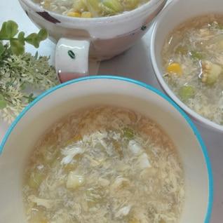 白なすの卵スープ