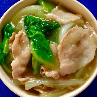 白菜と豚バラのあんかけ中華丼★