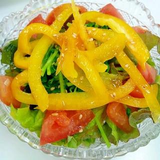 脂質異常症の方へ 豆苗とわかめの彩りサラダ