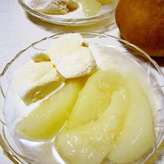 梅酒香る♪洋梨コンポート【レンジで超簡単!】